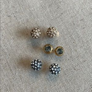 3 pair stella & dot studs